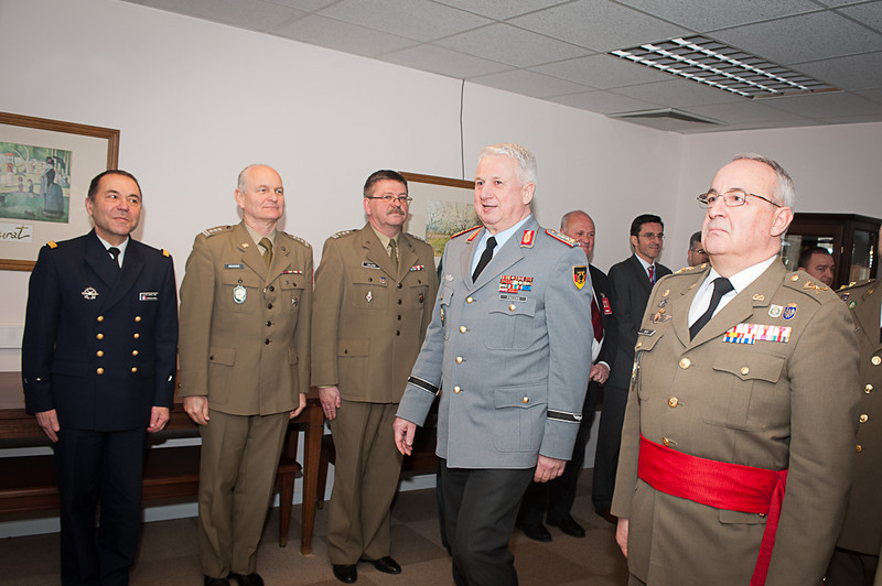 On 26th of February 2013, COS receiving a Great Cross Medal from DCOS RESl.(NATO photo by SGT Emily Langer, German Army)