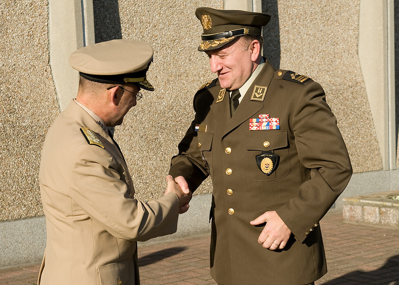 Croatian Chief Of Defence visits SHAPE.