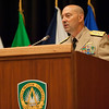 The Supreme Allied Commander Europe , Admiral James Stavridis addresses the audience at a ceremony relinquishing the duites of Command Sergeant Major Michael Balch as Senior enlisted leader of Allied Command Operations. On 10 June 2011, CSM Balch relinquished responsibility as Senior Enlisted Leader to the Allied Command Operations at the Supreme Headquarters Allied Powers Europe in a ceremony on SHAPE. Photos by SGT Intisar Sabree US Army