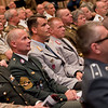 Senior enlisted leaders watch the ceremony. CSM Balch relinquished responsibility as Senior Enlisted Leader to the Allied Command Operations in a ceremony on SHAPE on June 10,2011. Photos by SGT Intisar Sabree US Army