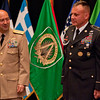 The Supreme Allied Commander Europe , Admiral James Stavridis presides over the ceremony relinquishing the duties of Command Sergeant Major Michael Balch as Senior enlisted leader of Allied Command Operations. On 10 June 2011, CSM Balch relinquished responsibility as Senior Enlisted Leader to the Allied Command Operations in a ceremony on SHAPE. Photos by SGT Intisar Sabree US Army