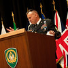 Command Sergeant Major Michael Balch addresses the audience.  CSM Balch relinquished responsibility as Senior Enlisted Leader to the Allied Command Operations at the Supreme Headquarters Allied Powers Europe in a ceremony on SHAPE on June 10, 2011. Photos by SGT Intisar Sabree, US Army