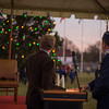 General Philip Breedlove, Supreme allied Commander Europe and the mayor of Malmedy, Mr. Jean-Paul Bastin give the anticipated command to light the tree during the annual Christmas Tree Lighting ceremony at the Supreme Headquarters Allied Powers Europe in Mons, Belgium 9 Dec. 2013 (NATO photo/ Sgt. Emily Langer, DEU Army)