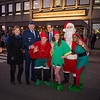 General Philip Breedlove, Supreme allied Commander Europe  and the mayor of Malmedy, Mr. Jean-Paul Bastin meet Santa and his Helper during the  Christmas Tree Lighting ceremony at the Supreme Headquarters Allied Powers Europe in Mons, Belgium 9 Dec. 2013 (NATO photo/ Sgt. Emily Langer, DEU Army)