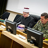 Croatian Islamic Leader, Dr. Aziz Hasanovic (left) during presentation at SHAPE (Supreme Headquarters Allied Powers Europe) on April 10, 2013. (NATO photo by RNLAF Sgt Peter Buitenhuis)