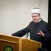 Croatian Islamic Leader, Dr. Aziz Hasanovic during presentation on April 10, at Supreme Headquarters Allied Powers Europe. (NATO photo by RNLAF Sgt. Peter Buitenhuis)