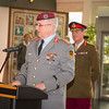 The Farewell and Handover Ceremony for the outgoing DSACEUR, General Sir Richard Shirreff.General Werner Freers, Chief of Staff/SHAPE welcomes the incoming DSACEUR, General Sir Adrian Bradshaw on the 28th of March 2014 ( NATO/photo by Sgt Emily Langer/DEU-Army)