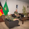 General Werner Freers, Chief of Staff SHAPE, during an Office call with General Bertrand Ract-Madoux, French Chief of Staff and Lieutenant General, Philippe Stoltz, Vice Chief of Staff on the 3rd June 2014 at SHAPE/Belgium. (NATO photo by Sgt. Emily Langer/DEU-Army)