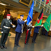 16 december, 2011. General Sher Mohammad KARIMI visits SHAPE. He is welcomed by SACEUR, Admiral James Stavridis and Honor Guard. Picture by Sgt Peter Buitenhuis - RNLAF.