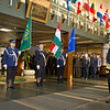 The Supreme Allied Commander Europe, Admiral James Stavridis welcomes Hungarian Chief of Defense, Gen Tibor Benkö during a Honor Guard Ceremony at SHAPE Headquarters, Dec. 12, 2012. (Photo by RNLAF Sgt. Peter Buitenhuis)