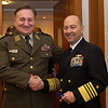 Supreme Allied commander Europe, Adm. James Stavridis meets with Lt. Gen Drago Lovric, Croatian Chief of Defence prior to the II Central European Chiefs of Defence Conference in Krakow, Poland Nov 7, 2012. (NATO photo by U.S. Army Sgt. 1st Class VeShannah J. Lovelace)