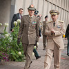 Adm. James Stavridis-Supreme Allied Commander Europe, made a welcome ceremony for General Abrate the Italian ChoD.8 October 2012. (NATO photo by Ger.Army Sgt. Emily Langer)