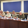 Deputy Supreme Allied Commander Europe, General Sir James Everard together with the Chairman of the Military Committee, General Petr Pavel and General Werner Freers, Chief of Staff of SHAPE during the opening remarks to the 29 Military Representatives to NATO on 22 June 2017. (NATO Photo by Sgt. 1st Class Stefan Hass - DEU A)