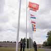 Montenegrian Flag Rising