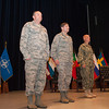 U.S. Navy Vice Adm. Sean Pybus (centre) replaced U.S. Air Force Lt. Gen. Frank Kisner (right) as the commander of NATO Special Operations Headquarters located in Mons, Belgium during a ceremony officiated by U.S. Air Force Gen. Philip Breedlove (left), Supreme Allied commander Europe, on Jul 2, 2013. (NATO photo/ Sgt Emily Langer, DEU Army)