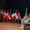 U.S. Navy Vice Adm. Sean Pybus (right) replaced U.S. Air Force Lt. Gen. Frank Kisner as the commander of NATO Special Operations Headquarters located in Mons, Belgium during a ceremony officiated by U.S. Air Force Gen. Philip Breedlove, Supreme Allied commander Europe, on Jul 2, 2013. (NATO photo/ Sgt Emily Langer, DEU Army)