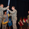 U.S. Navy Vice Adm. Sean Pybus (right) replaced U.S. Air Force Lt. Gen. Frank Kisner (centre) as the commander of NATO Special Operations Headquarters located in Mons, Belgium during a ceremony officiated by U.S. Air Force Gen. Philip Breedlove (left), Supreme Allied commander Europe, on Jul 2, 2013. (NATO photo/ Sgt Emily Langer, DEU Army)