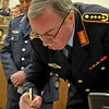 The the SHAPE Chief of Staff along with the Natioinal Military Representatives  meet to sign the Notes of Acession agreement on March 2. 2011. (Photo by SGT Intisar Sabree, US Army)