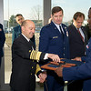 SACEUR, Admiral James Stavridis during ribbon cutting ceremony at the new NATO Special Operations Headquarters building at SHAPE, Dec. 12, 2012. (NATO Photo by RNLAF Sgt Peter Buitenhuis)