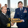 SACEUR, Admiral James Stavridis with COM NSHQ, LT Gen. Frank Kisner during ribbon cutting ceremony at the new NATO Special Operations Headquarters building at SHAPE, Dec. 12, 2012. (NATO Photo by RNLAF Sgt Peter Buitenhuis)