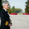 Image from the The Royal Naval Division Memorial Service held at the Tyne Cot Cemetery, Ypres, Begium, on Friday 19 October 2012.<br /> <br /> Each year members of the Royal Navy stationed at the Supreme Headquarters Allied Powers Europe, Mons, Belgium, visit St Symphorien Military Cemetery (Mons), Passchendaele New British Cemetery (Passchendaele) and Tyne Cot Cemetery (Ypres) to hold memorial services at each location for the sailors and Royal Marines who lost their lives during World War One.<br /> (Photographer - SSgt Ian Houlding GBR Army)