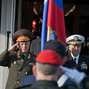 17 January, 2012. Russian ChoD, General Nikolay Makarov and Russian Federation visits SHAPE. They are welcomed by SACEUR, Admiral James Stavridis with a Honor Guard. Picture by Sgt Emily Langer ( DEU-A)