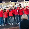 "11 January, 2012. Children from the USA Elementary School singing the song "" This Land is Your Land"" during SHAPE International School Ceremony. Picture by Sgt Peter Buitenhuis - RNLAF. all copyright SHAPE."