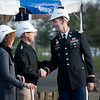 11 January, 2012. SACEUR, Admiral James Stavridis congratulates Colonel Peter Helmlinger, District Commander Europe District US Army Corps of Engineers and Dr Mc Mullen, Acting Director DoDDS Europe, with the beginning of this important project for the SHAPE International School after the groundbreaking. Picture by Sgt Peter Buitenhuis - RNLAF. all copyright SHAPE.