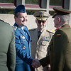 23 April, 2012. SVK ChoD, Major General Peter Vojtek visits SHAPE. He is welcomed by SACEUR, Admiral James Stavridis with Honor Guard. Picture by Sgt Emily Langer. all copyright NATO.