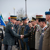 Admiral James Stavridis (left side), Supreme Allied Commander Europe, and Lt General André Blattmann, Swiss Chief of Defense, greet National Military Representatives during the welcome ceremony on the 06 november 2012 at Supreme Headquarter Power Europe, Maisieres, Belgium. (NATO photo by ADJ Edouard Bocquet, French Air Force)