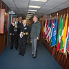 Adm. James Stavridis-Supreme Allied Commander Europe, made a welcome ceremony for the Swiss Chod, LtGen André Blattmann.On the 6. November 2012. (NATO photo by Ger.Army Sgt. Emily Langer)