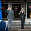 Admiral James Stavridis (right side), Supreme Allied Commander Europe, and Lt General André Blattmann, Swiss Chief of Defense, salute during the welcome ceremony on the 06 november 2012 at Supreme Headquarter Power Europe, Maisieres, Belgium. (NATO photo by ADJ Edouard Bocquet, French Air Force)
