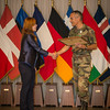 Lieutenant General, Philippe Stoltz, VCOS presents SHAPE Certificate of Appreciation ceremony on the 27th June 2014 at SHAPE/Belgium. (NATO photo by Sgt. Emily Langer/DEU-Army)