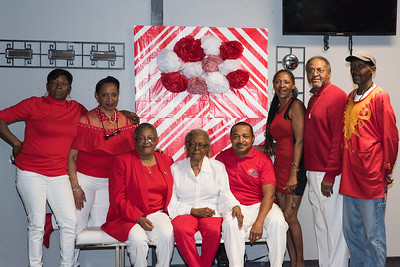 Yvonne Baker Chesson's Red & White Birthhday Party