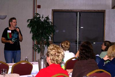 Barbara Ray teaching the RVS Class