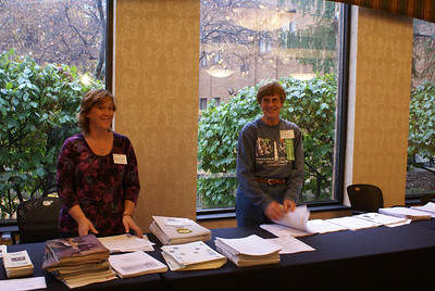 Jennifer Taylor & Betty Ross at the registration table.
