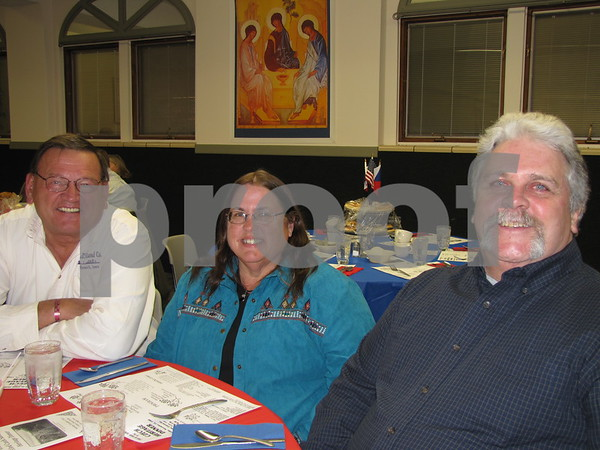 Ellis Macha, Pat Hill, and Jamie Farrell attended the Czech Heritage Dinner.