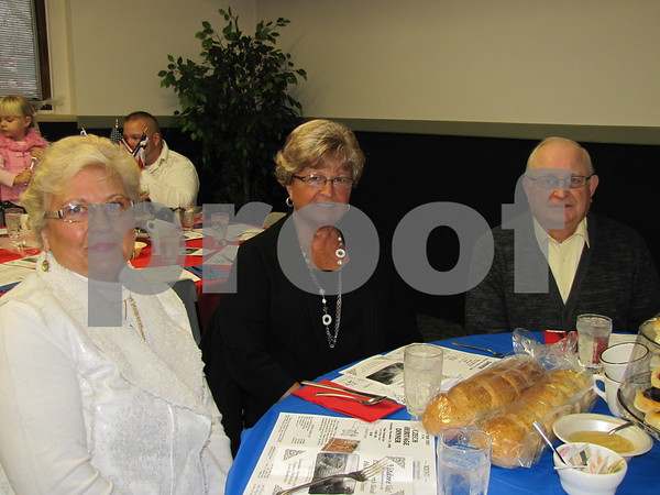 Barb Ertl, Margaret and Doug Laird at the Czech Heritage Dinner held at the Corpus Christi Parish Center.