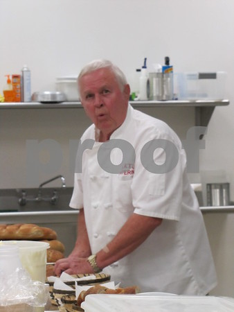 Jim Ertl, Head Chef, in the kitchen at the 33rd Annual Czech Heritage Dinner held at the Corpus Christi Parish Center.