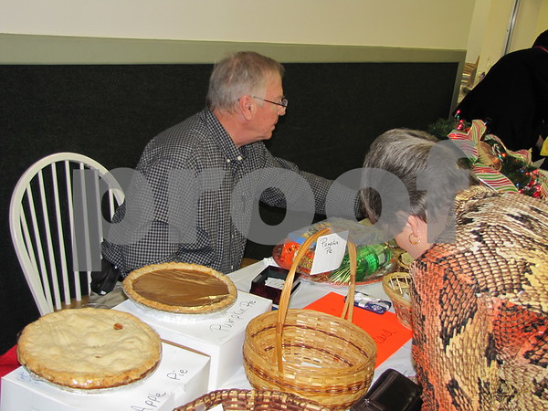 Lucky bidders could go home with a homemade pie.