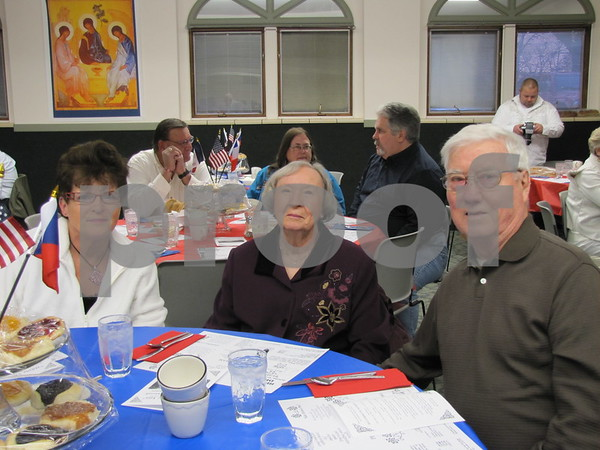 Judy Hill, Lorraine and Robert Hulett at the Czech Heritage Dinner.