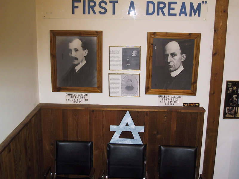 """Air at Wilbur Wright birthplace [3/27/2004] <p> Air with pictures of the <a href=""""http://en.wikipedia.org/wiki/Wright_brothers"""">Wright brothers</a>."""