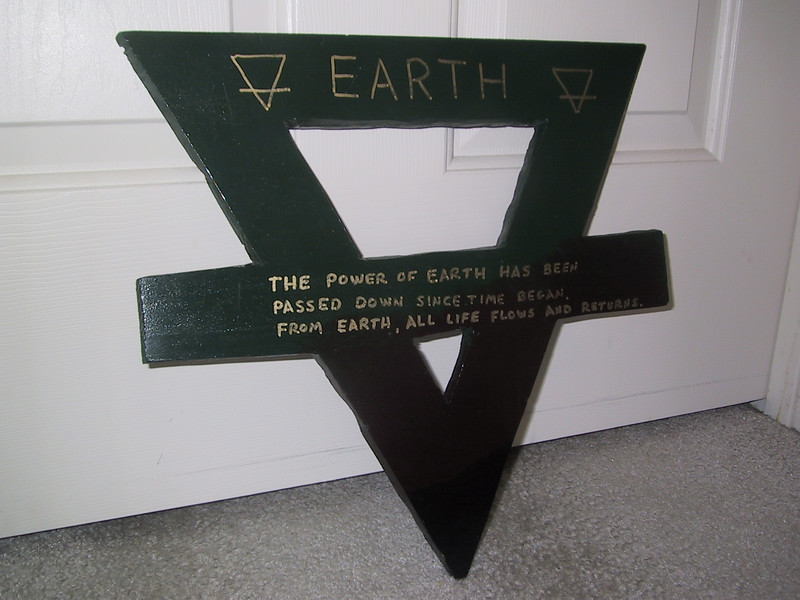 "Earth (front) [9/30/2006] <p> ""The power of earth has been passed down since time began.  From earth, all life flows and returns."