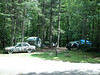 This is our campsite, the Saulnier's on the left, Donna Minott on the right