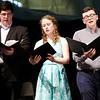 Stewart Center: Apprentice Recital: Scott, Madeleine and Cannon, singing Pilgrim Hymn