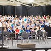 Sheffield: Stewart Center: Evening rehearsal: Right side of choristers with Tom