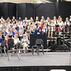 Sheffield: Stewart Center: Evening rehearsal: Right side of choristers