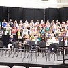 Sheffield: Stewart Center: Evening rehearsal: Left side of choristers with Tom