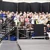 Sheffield: Stewart Center: Evening rehearsal: Left side of choristers