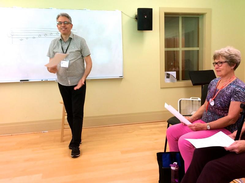 "Sheffield: Benson Music Room: Mitchel starting class on ""Do You Hear What I Hear?"""
